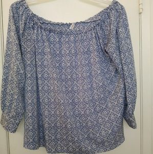 Marisol off the shoulder Blue blouse 1x